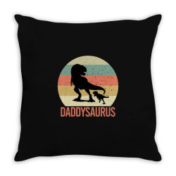 Daddysaurus Throw Pillow | Artistshot