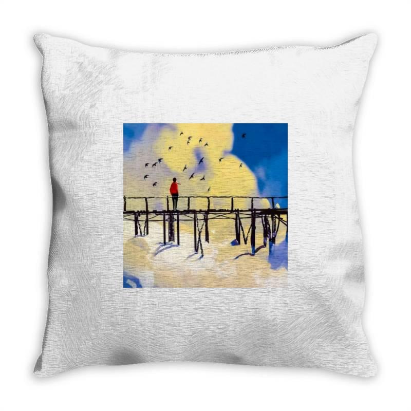 Damaged Throw Pillow | Artistshot