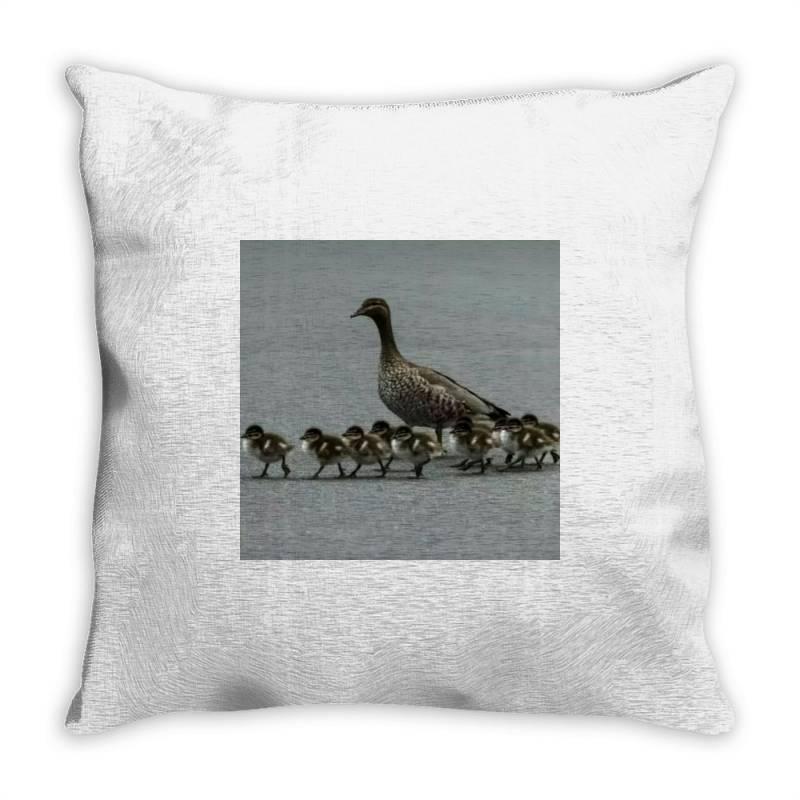 Duck Family Throw Pillow | Artistshot