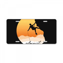 alpinist License Plate | Artistshot