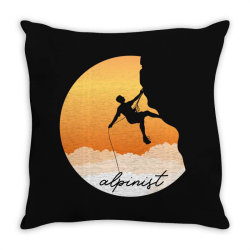 alpinist Throw Pillow | Artistshot
