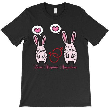 Love Rabbit T-shirt Designed By Mr.prit