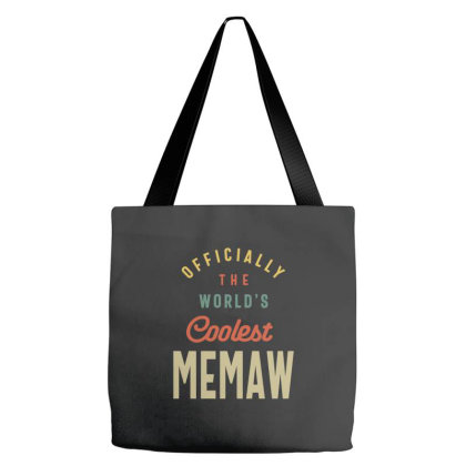 Womens World's Coolest Memaw - Mother Gift Tote Bags Designed By Cidolopez
