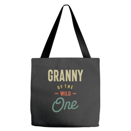 Womens Granny Of The Wild One Grandma Gift Tote Bags Designed By Cidolopez