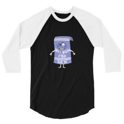 will work for sex towelie 3/4 Sleeve Shirt | Artistshot