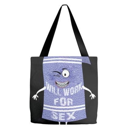 Will Work For Sex Towelie Tote Bags Designed By Dhigraphictees
