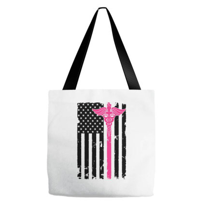 American Flag Nurse For Light Tote Bags Designed By Gurkan