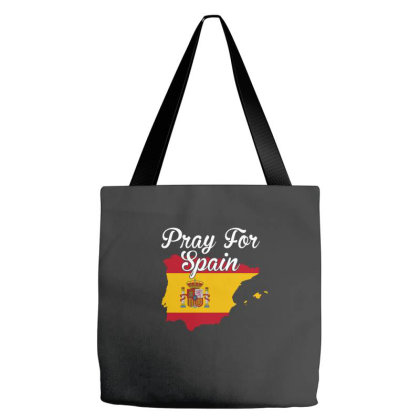 Pray For Spain For Dark Tote Bags Designed By Gurkan