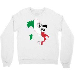 pray for italy for light Crewneck Sweatshirt | Artistshot