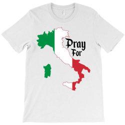 pray for italy for light T-Shirt | Artistshot