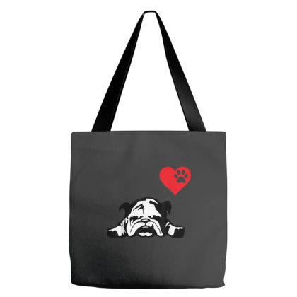 I Love My English Bulldog Tote Bags Designed By Mrt90