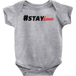 #stayhome for light Baby Bodysuit | Artistshot