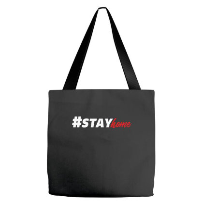 #stayhome For Dark Tote Bags Designed By Gurkan