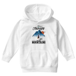 i don't need therapy i just need to go to the mountains for light Youth Hoodie | Artistshot