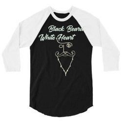 black beard white heart2 3/4 Sleeve Shirt | Artistshot