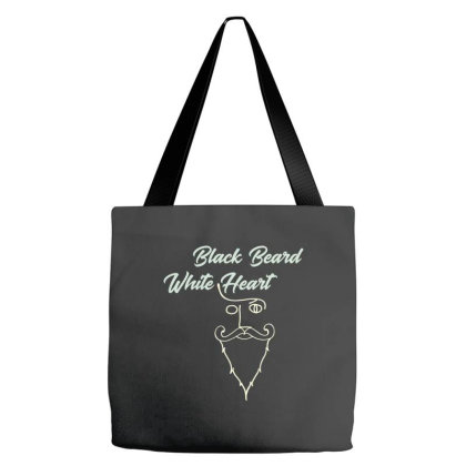 Black Beard White Heart2 Tote Bags Designed By Grafixbychawki