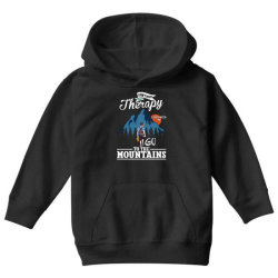 i don't need therapy i just need to go to the mountains for dark Youth Hoodie | Artistshot