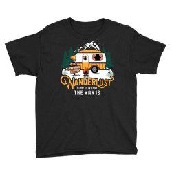 wanderlust home is where the van is Youth Tee | Artistshot