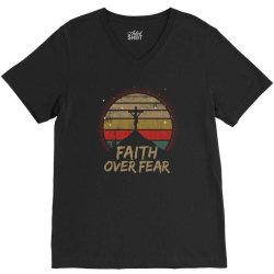 faith over fear V-Neck Tee | Artistshot