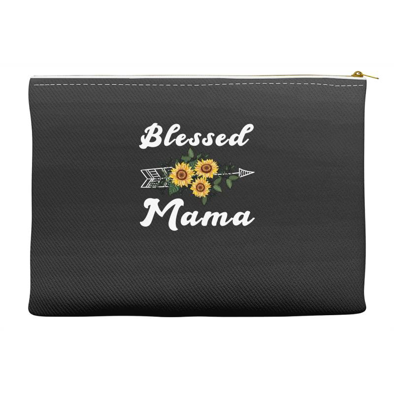 Blessed Mama For Dark Accessory Pouches | Artistshot