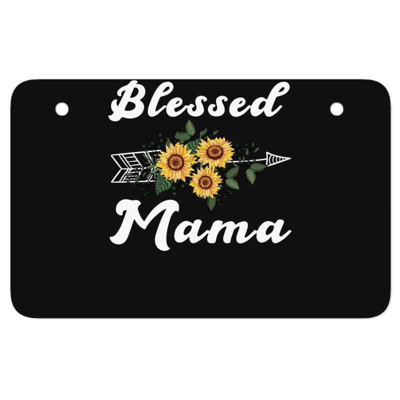 Blessed Mama For Dark Atv License Plate | Artistshot