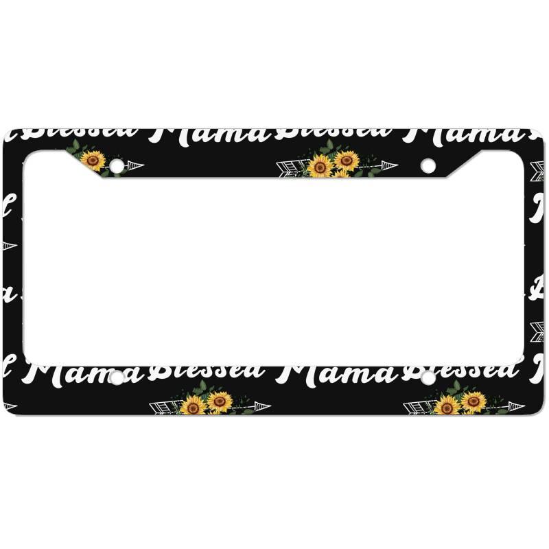 Blessed Mama For Dark License Plate Frame | Artistshot