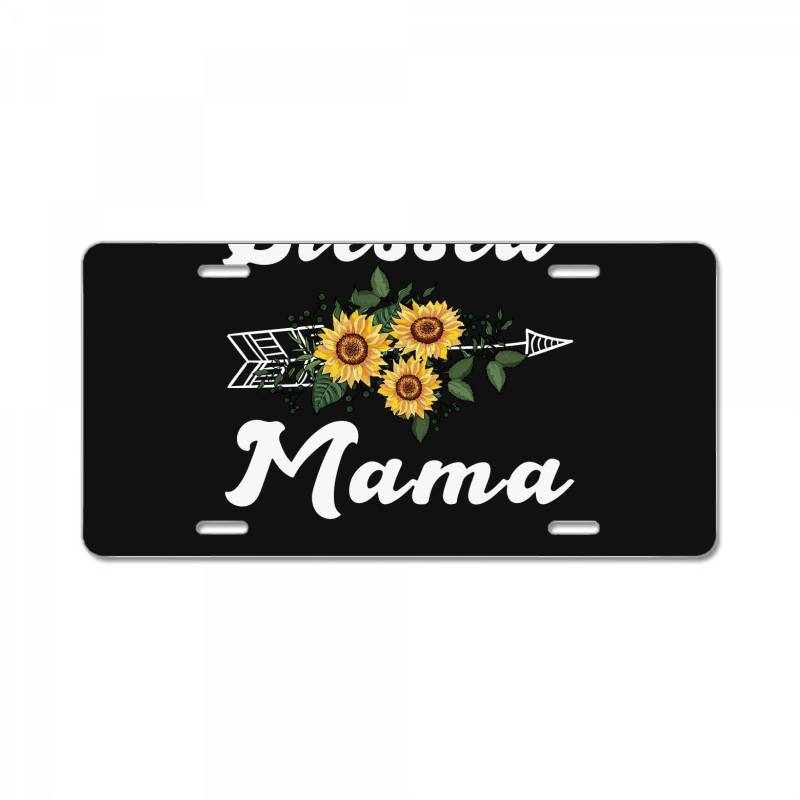 Blessed Mama For Dark License Plate | Artistshot