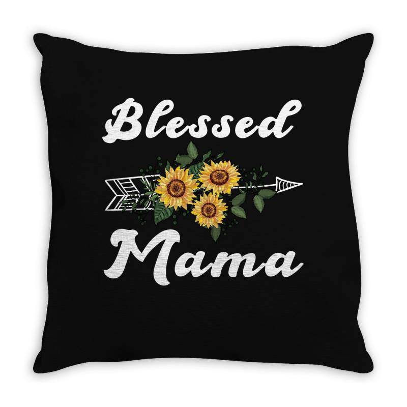 Blessed Mama For Dark Throw Pillow | Artistshot