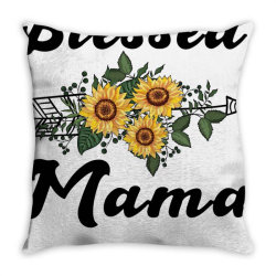 blessed mama for light Throw Pillow | Artistshot