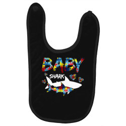 baby shark for dark Baby Bibs | Artistshot