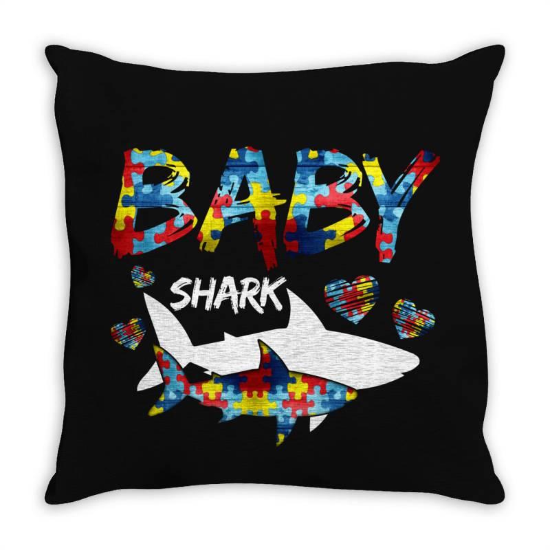 Baby Shark For Dark Throw Pillow | Artistshot