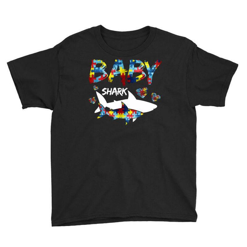 Baby Shark For Dark Youth Tee | Artistshot