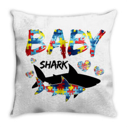 baby shark for light Throw Pillow | Artistshot