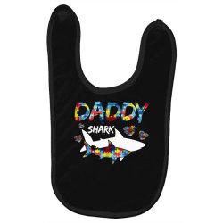 daddy shark for dark Baby Bibs   Artistshot