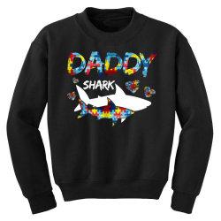 daddy shark for dark Youth Sweatshirt   Artistshot