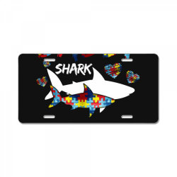 daddy shark for dark License Plate | Artistshot