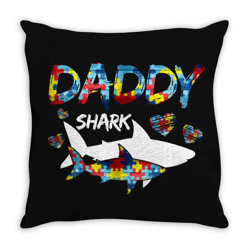 Daddy Shark For Dark Throw Pillow | Artistshot