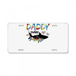 daddy shark for light License Plate | Artistshot