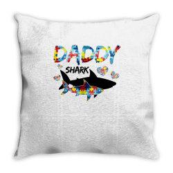 daddy shark for light Throw Pillow | Artistshot