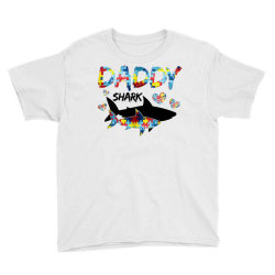 daddy shark for light Youth Tee | Artistshot