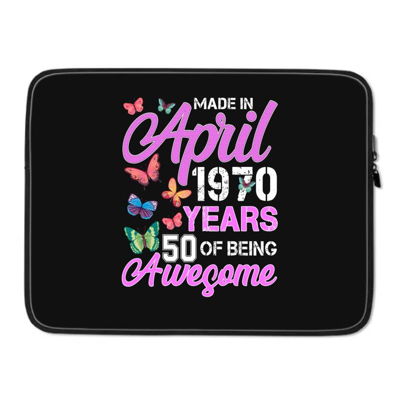 Made In April 1970 Ears 50 Of Being Awesome For Dark Laptop Sleeve | Artistshot