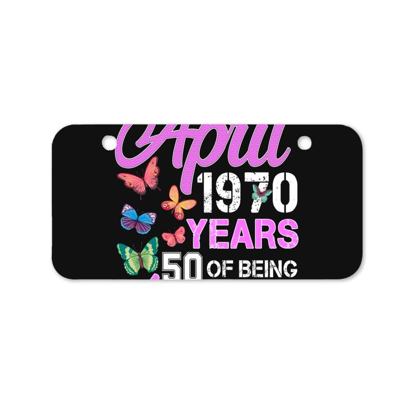 Made In April 1970 Ears 50 Of Being Awesome For Dark Bicycle License Plate | Artistshot