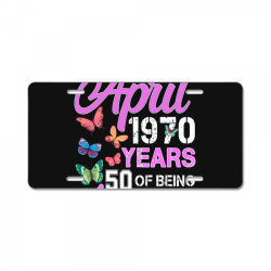 made in april 1970 ears 50 of being awesome for dark License Plate | Artistshot