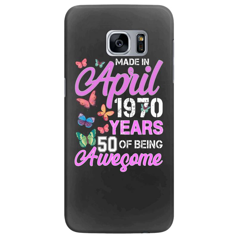 Made In April 1970 Ears 50 Of Being Awesome For Dark Samsung Galaxy S7 Edge Case | Artistshot