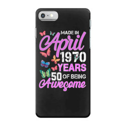 made in april 1970 ears 50 of being awesome for dark iPhone 7 Case | Artistshot