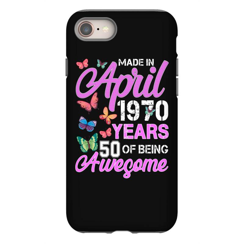 Made In April 1970 Ears 50 Of Being Awesome For Dark Iphone 8 Case | Artistshot