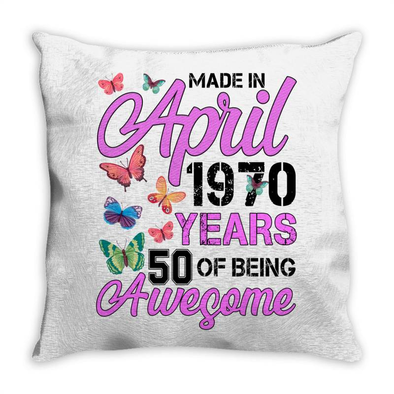 Made In April 1970 Ears 50 Of Being Awesome For Light Throw Pillow | Artistshot