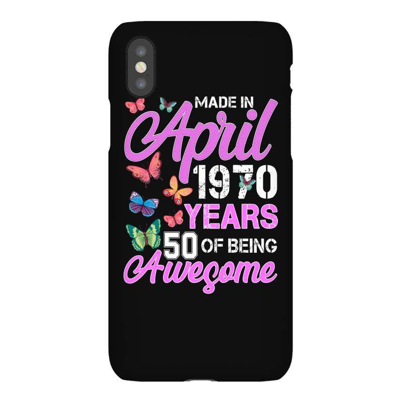 Made In April 1970 Ears 50 Of Being Awesome For Dark Iphonex Case | Artistshot
