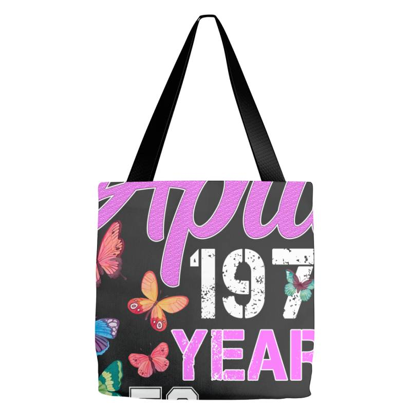 Made In April 1970 Ears 50 Of Being Awesome For Dark Tote Bags | Artistshot