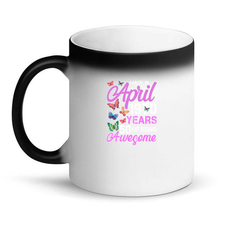 Made In April 1970 Ears 50 Of Being Awesome For Dark Magic Mug | Artistshot
